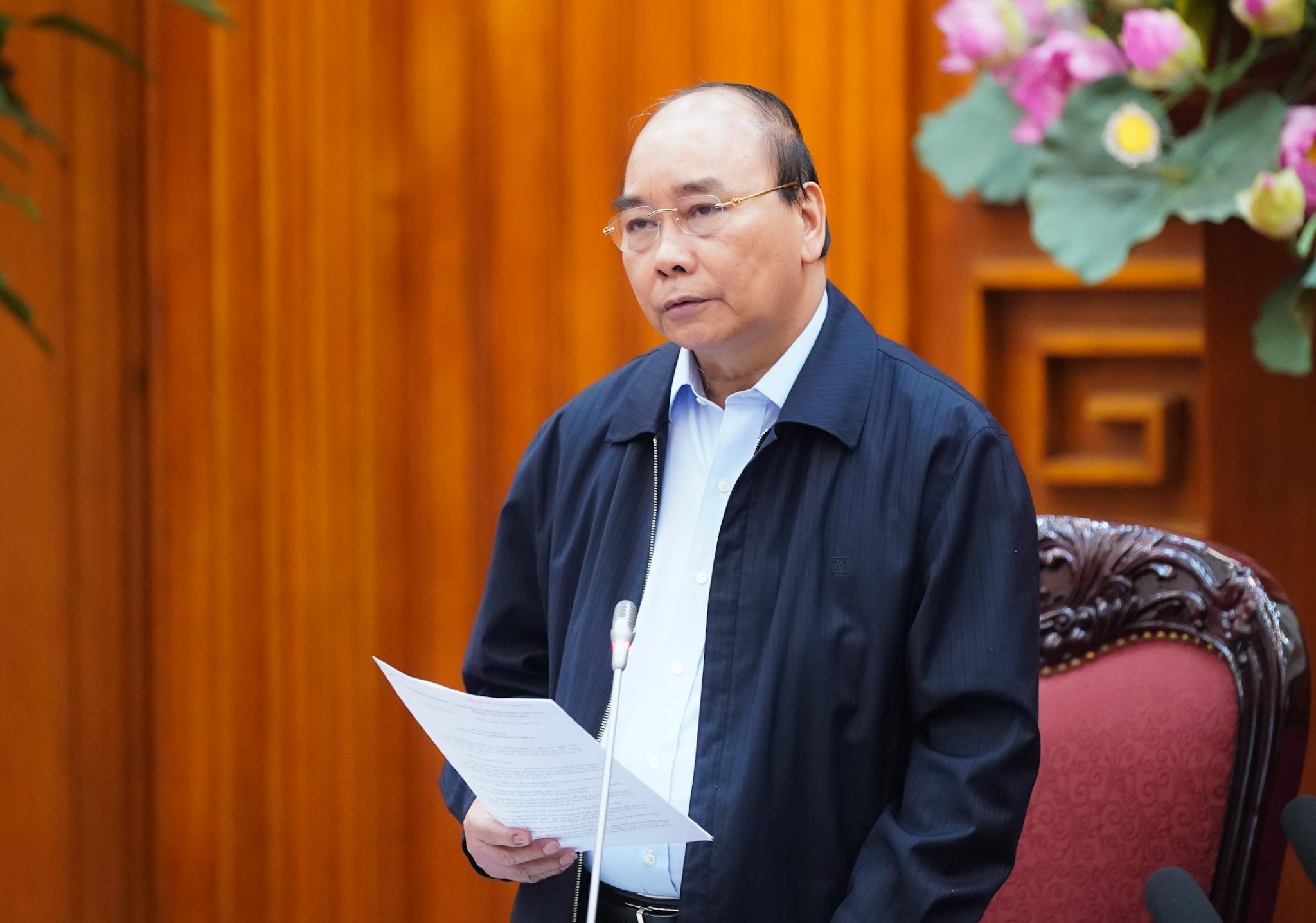 Thủ tướng phát biểu tại cuộc họp - Ảnh: VGP/Quang Hiếu