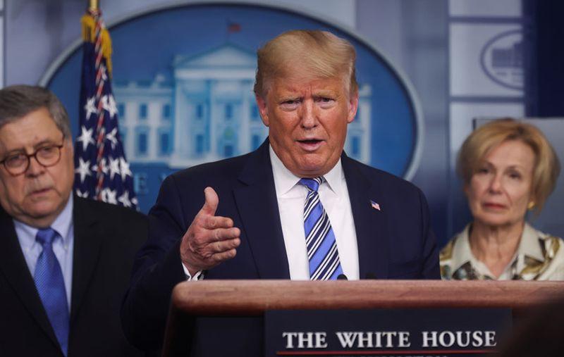 Tổng thống Mỹ Donald Trump từng lên tiếng ca ngợi tác dụng của chloroquine đối vời việc điều trị Covid-19. Ảnh: AP