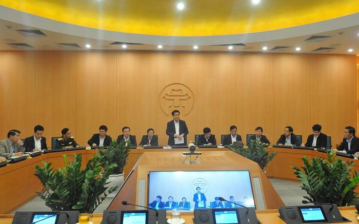 Chủ tịch UBND Thành phố Hà Nội chủ trì Ban chỉ đạo phòng, chống dịch Covid-19.