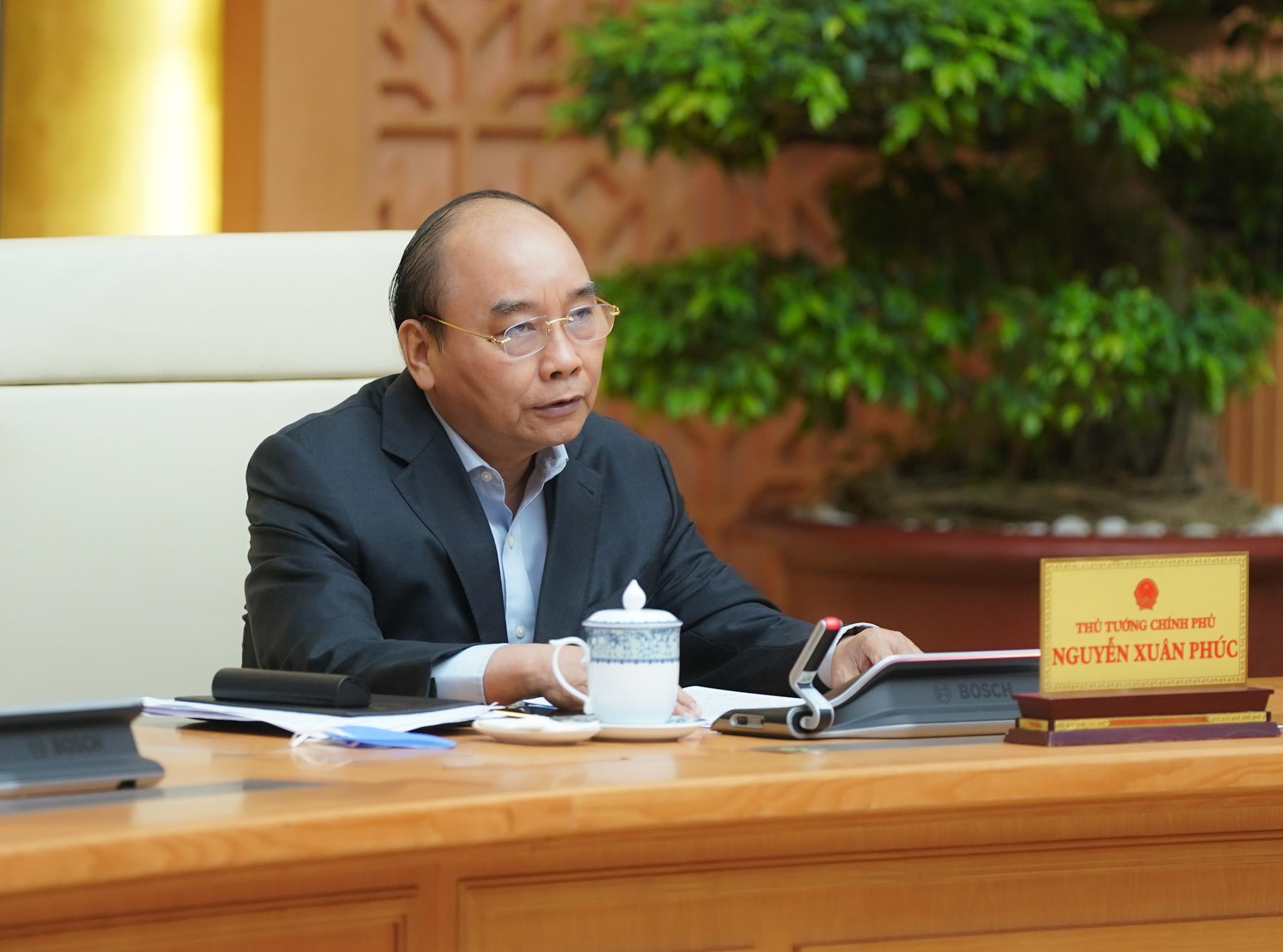 Thủ tướng phát biểu tại cuộc họp. Ảnh: VGP/Quang Hiếu