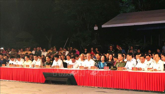 Các đại biểu dự chương trình tại điểm cầu Nghệ An. Ảnh: TTXVN