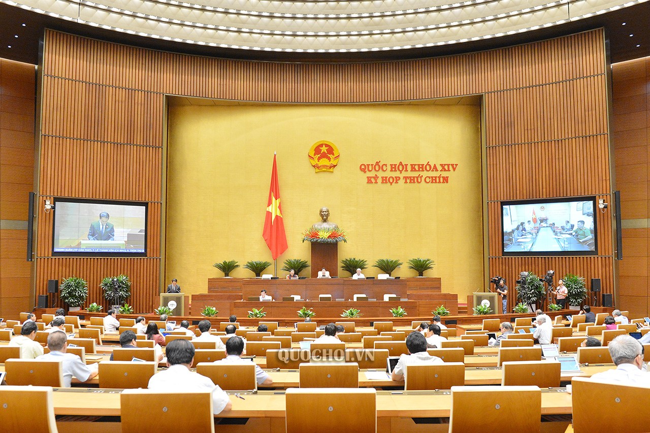 Quốc hội họp phiên toàn thể trực tuyến ngày 22/5.