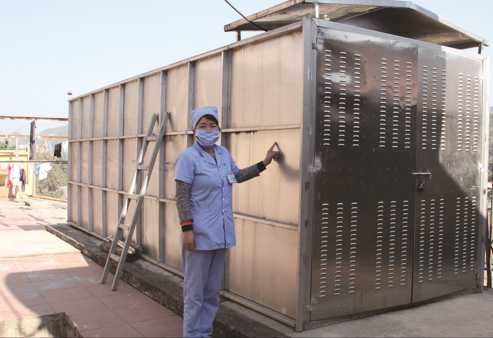 Bể xử lý nước thải y tế của Trung tâm Y tế huyện Nậm Pồ