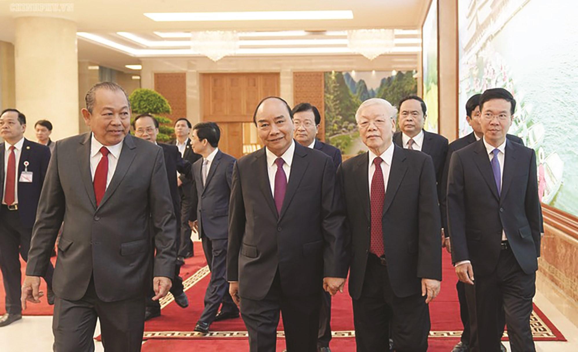 Tổng Bí thư, Chủ tịch nước Nguyễn Phú Trọng và lãnh đạo Đảng, Nhà nước dự Hội nghị Chính phủ với địa phương về phát triển kinh tế - xã hội 2020.