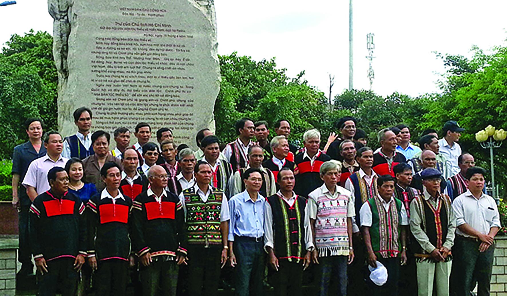 Hội nghị biểu dương người tiêu biểu dân tộc thiểu số khu vực Tây Nguyên. (Ảnh chụp tháng 8/2016). Ảnh: Mạnh Quang