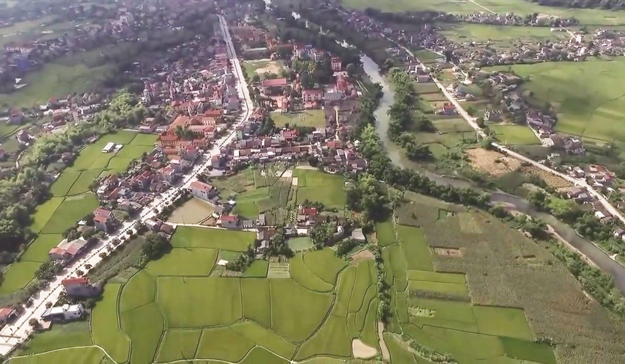 Một góc thị trấn Thất Khê nhìn từ trên cao