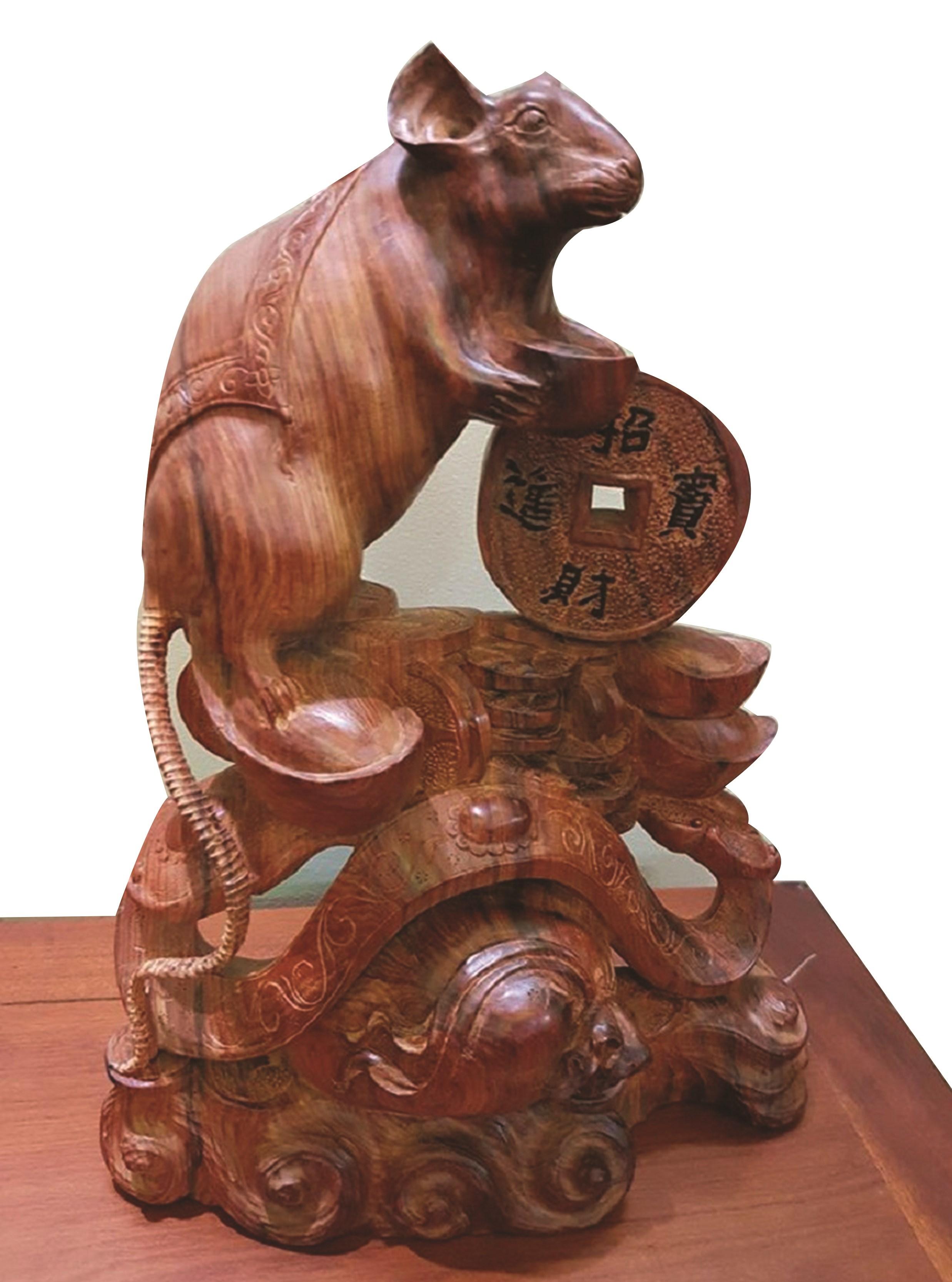 Người Hoa Chợ Lớn với tượng chuột phong thủy 2