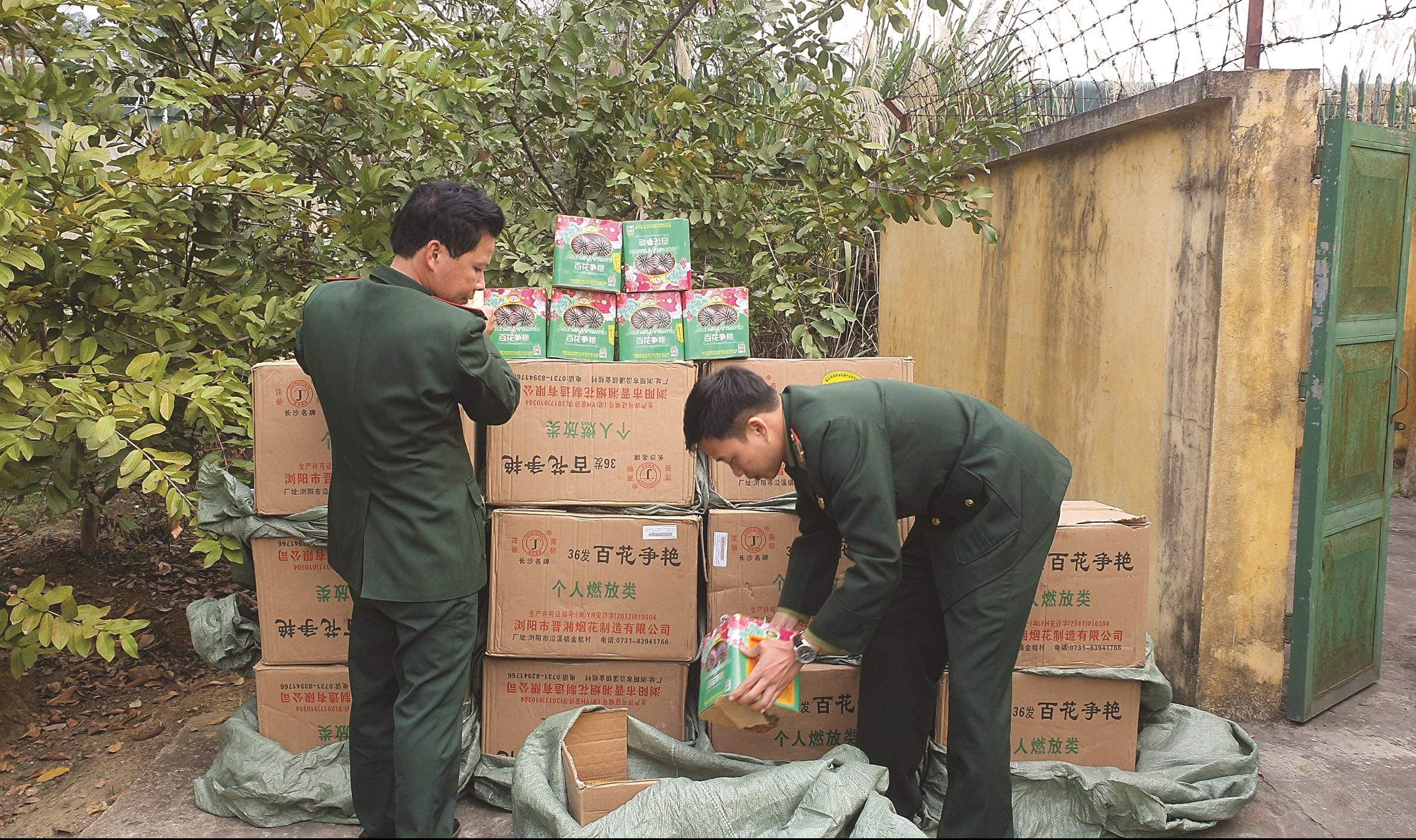 Hơn 600kg pháo hoa được ĐBP Cửa khẩu Quốc tế Lào Cai thu giữ ngày 3/1 vừa qua