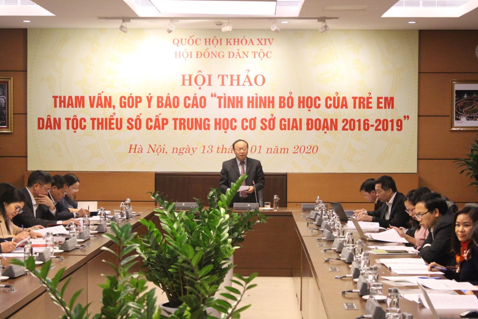 Hội thảo đã khuyến nghị nhiều giải pháp nhằm hạn chế tình trạng học sinh DTTS cấp THCS bỏ học
