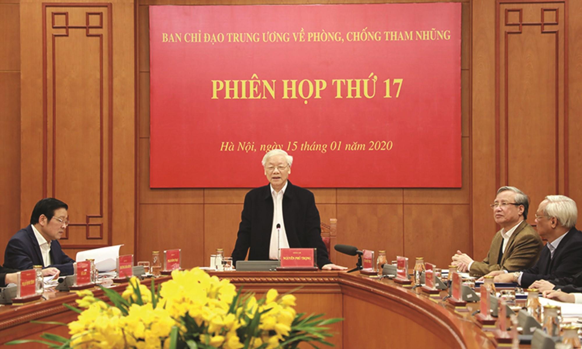 Tổng Bí thư, Chủ tịch nước Nguyễn Phú Trọng phát biểu kết luận Phiên họp.