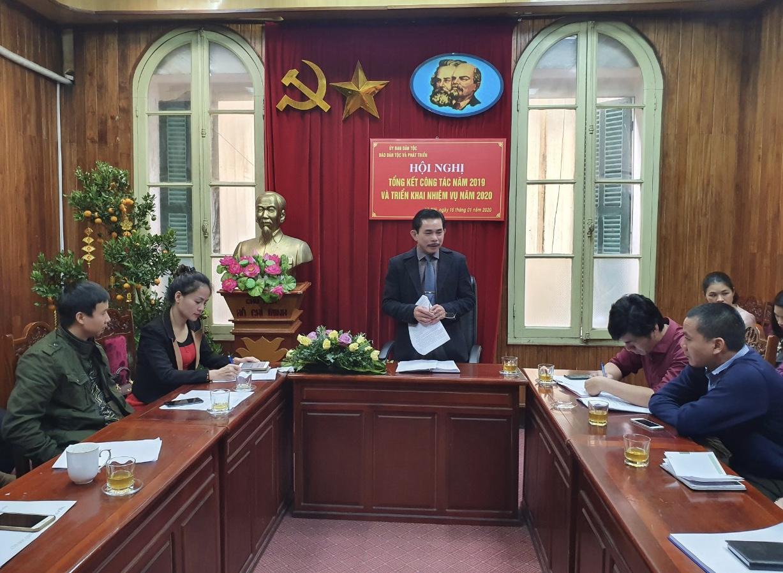 Phó Tổng Biên tập - Phụ trách Lê Công Bình phát biểu tại Lễ tổng kết