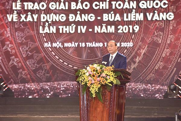 Thủ tướng Chính Phủ Nguyễn Xuân Phúc phát biểu tại buổi Lễ trao Giải