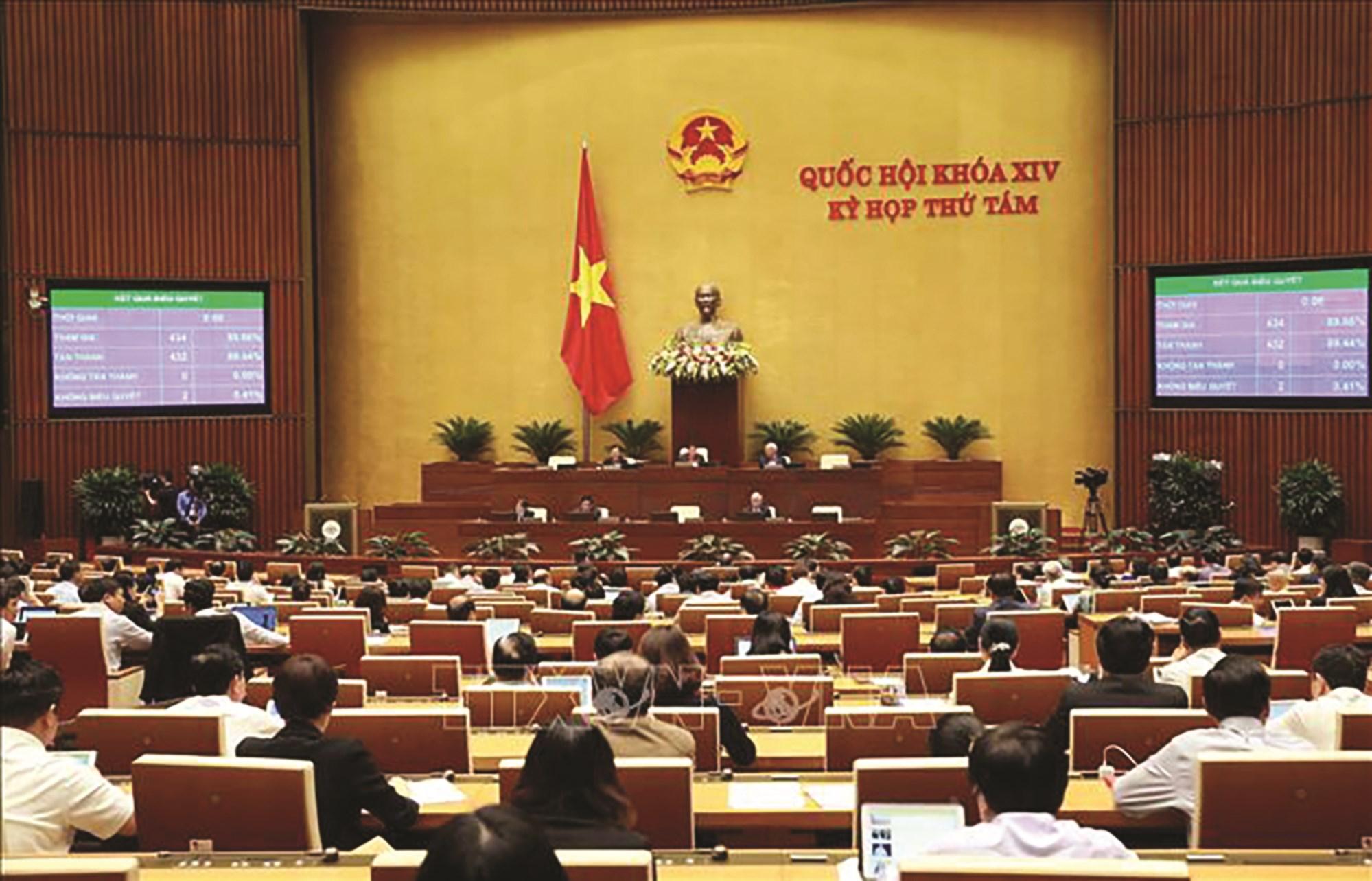 Quốc hội biểu quyết thông qua Nghị quyết phê duyệt Đề án tổng thể phát triển KT-XH vùng đồng bào DTTS&MN, vùng có điều kiện ĐBKK. (Ảnh TTXVN)