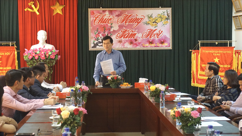 Thứ trưởng, Phó Chủ nhiệm Nông Quốc Tuấn phát biểu tại buổi làm việc