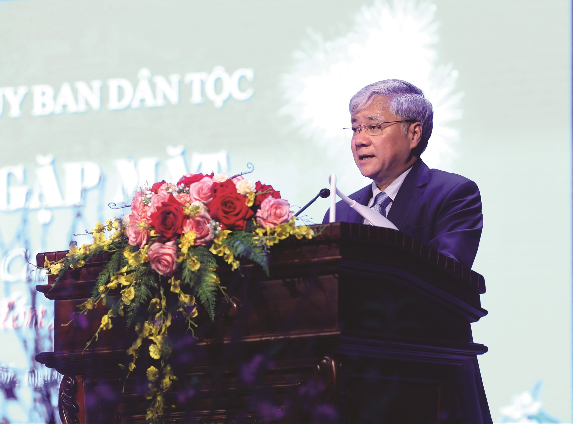 Bộ trưởng, Chủ nhiệm Đỗ Văn Chiến phát biểu tại buổi gặp mặt