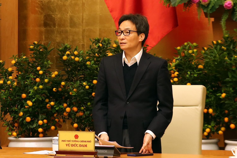 Phó Thủ tướng Vũ Đức Đam phát biểu tại cuộc họp. Ảnh: VGP/Đình Nam