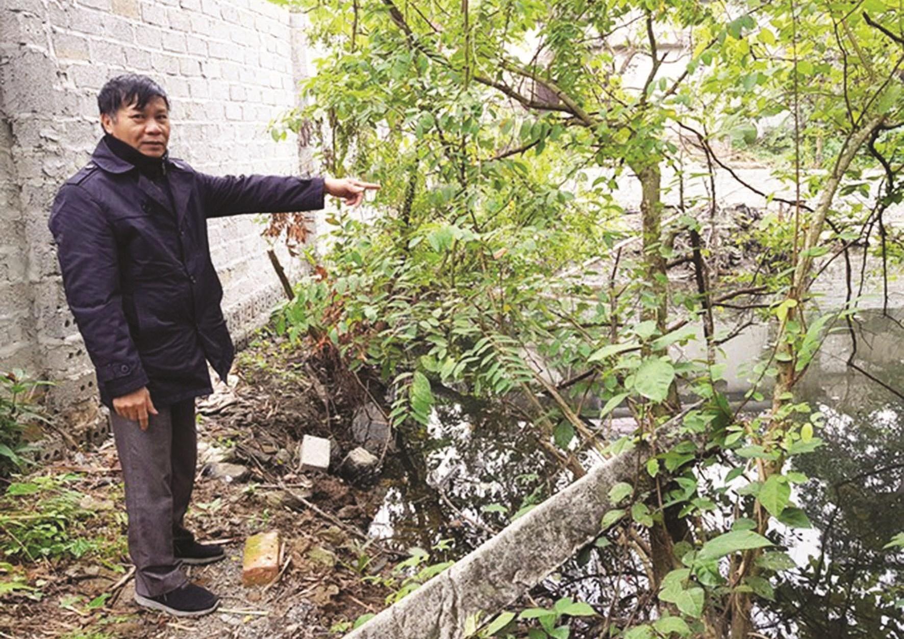 """Địa điểm """"con đường ma"""" xuất hiện trên thửa đất của ông Mạc Vương Tuyên"""