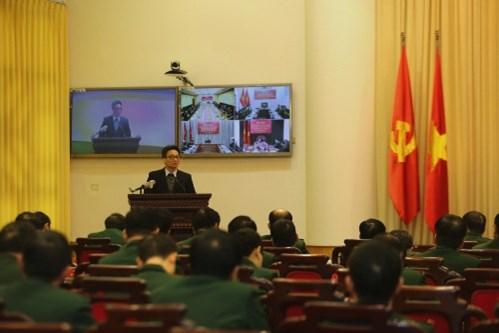 Phó Thủ tướng Vũ Đức Đam phát biểu tại Hội nghị - Ảnh: VGP/Đình Nam