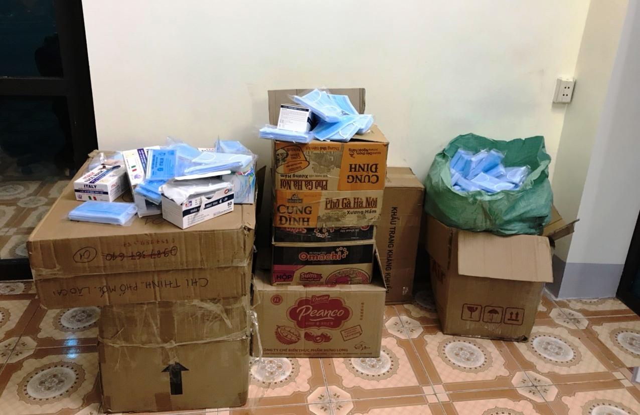 Toàn bộ khẩu trang buôn lậu bị bắt giữ tại Thành phố Lào Cai
