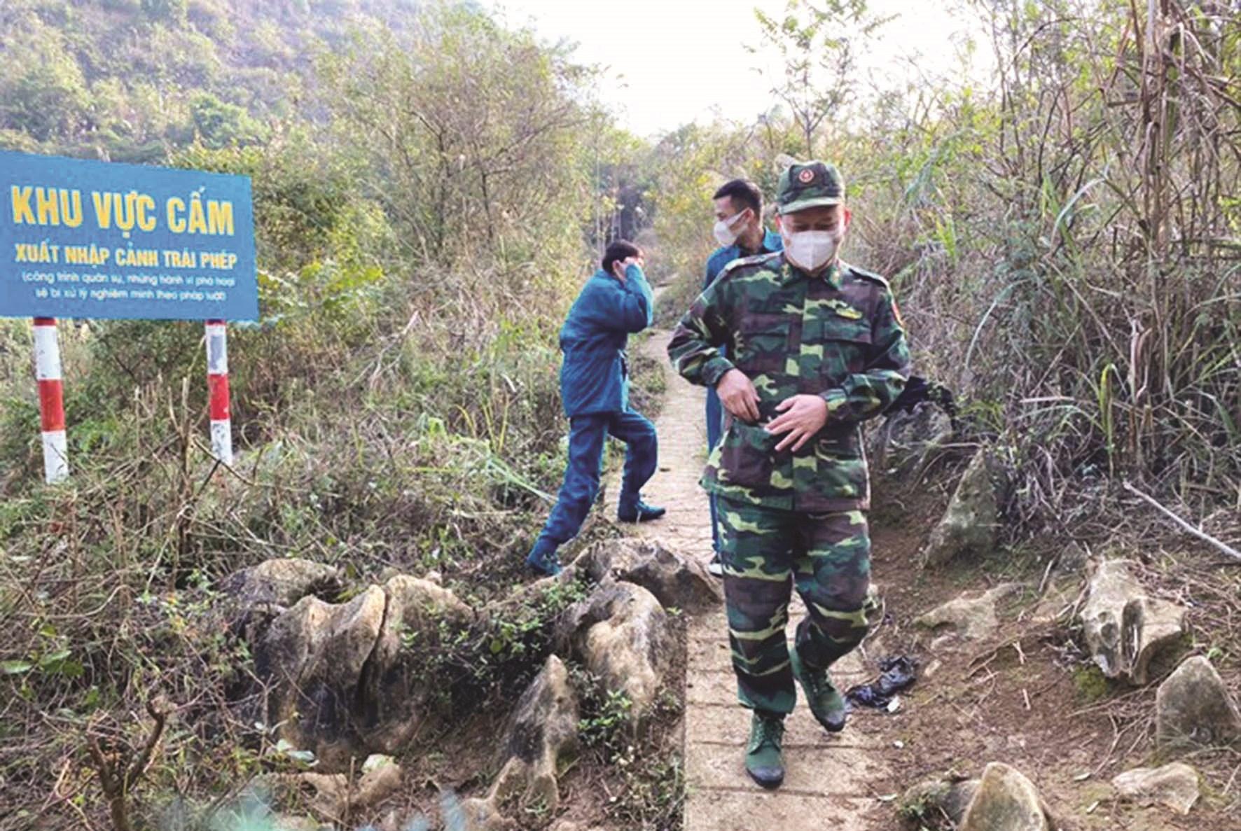 Lực lượng chức năng tuần tra kiểm soát 24/24h tại vùng giáp biên Lạng Sơn