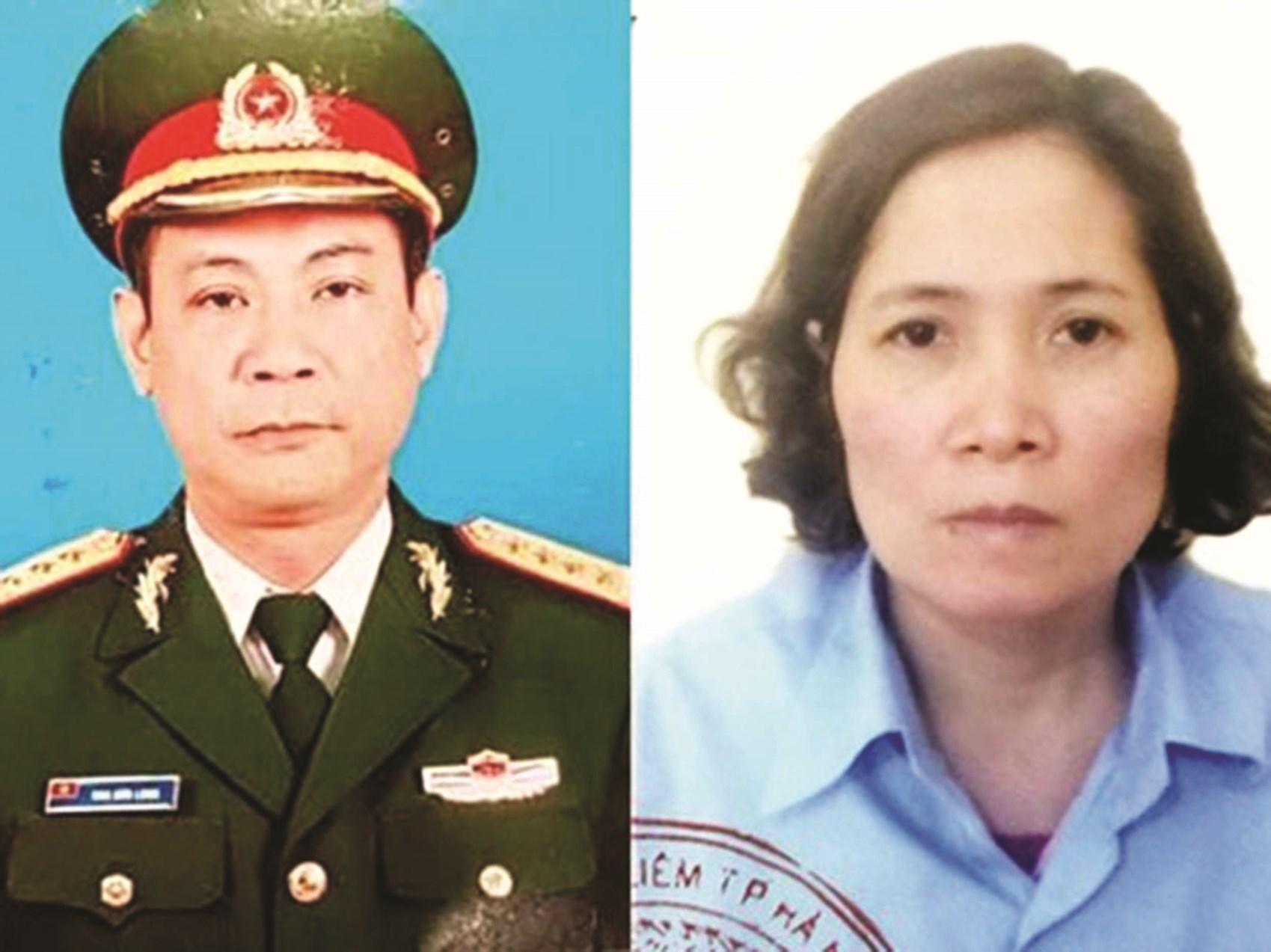 Đối tượng Diệp Ngọc Hà (bên trái) giả danh tướng quân đội cùng vợ lừa đảo gần 1.000 người dân. (Ảnh tư liệu)