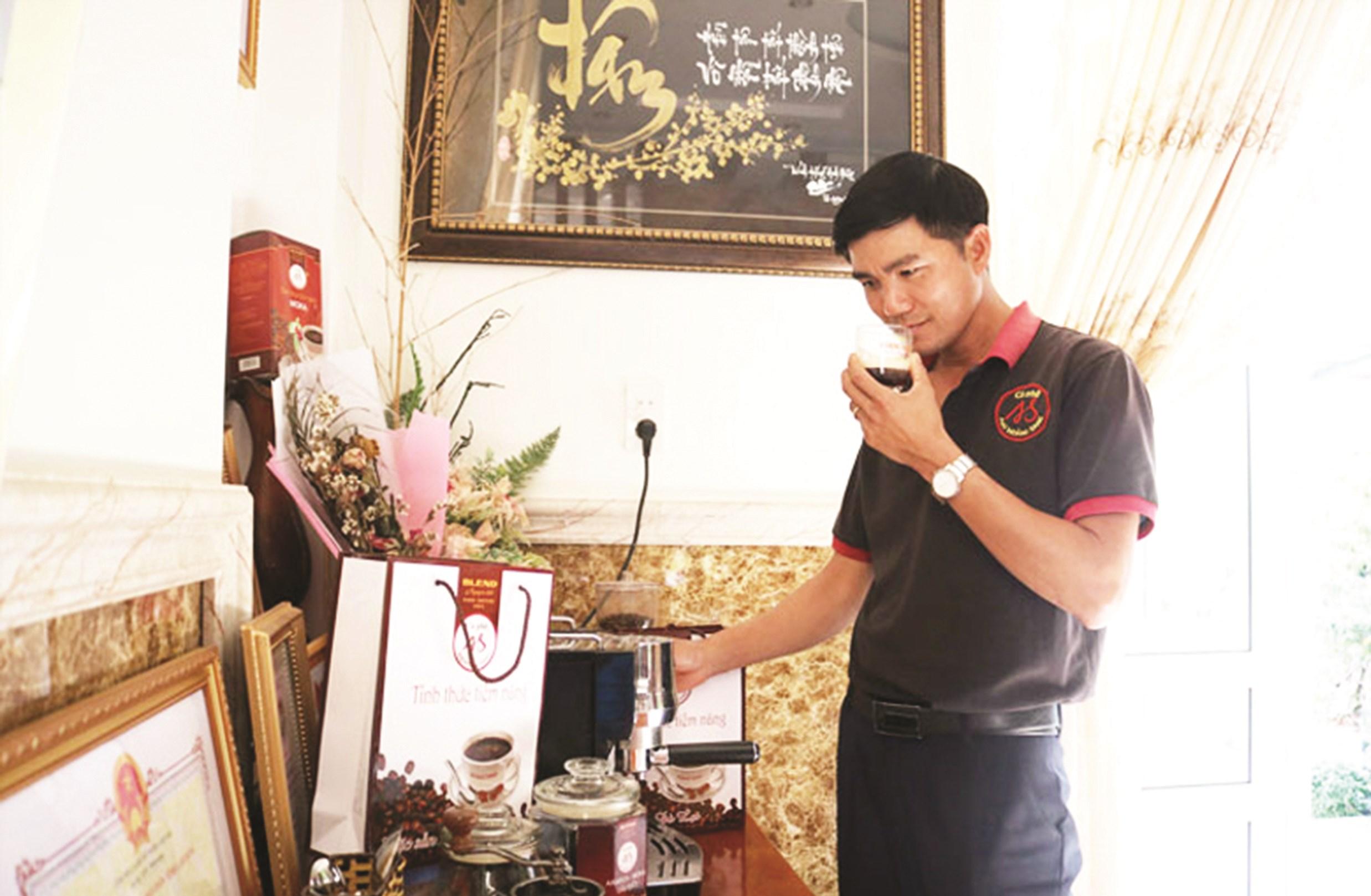 Sản phẩm cà phê của Công ty Mai Hoàng Sang đạt chất lượng 4 sao