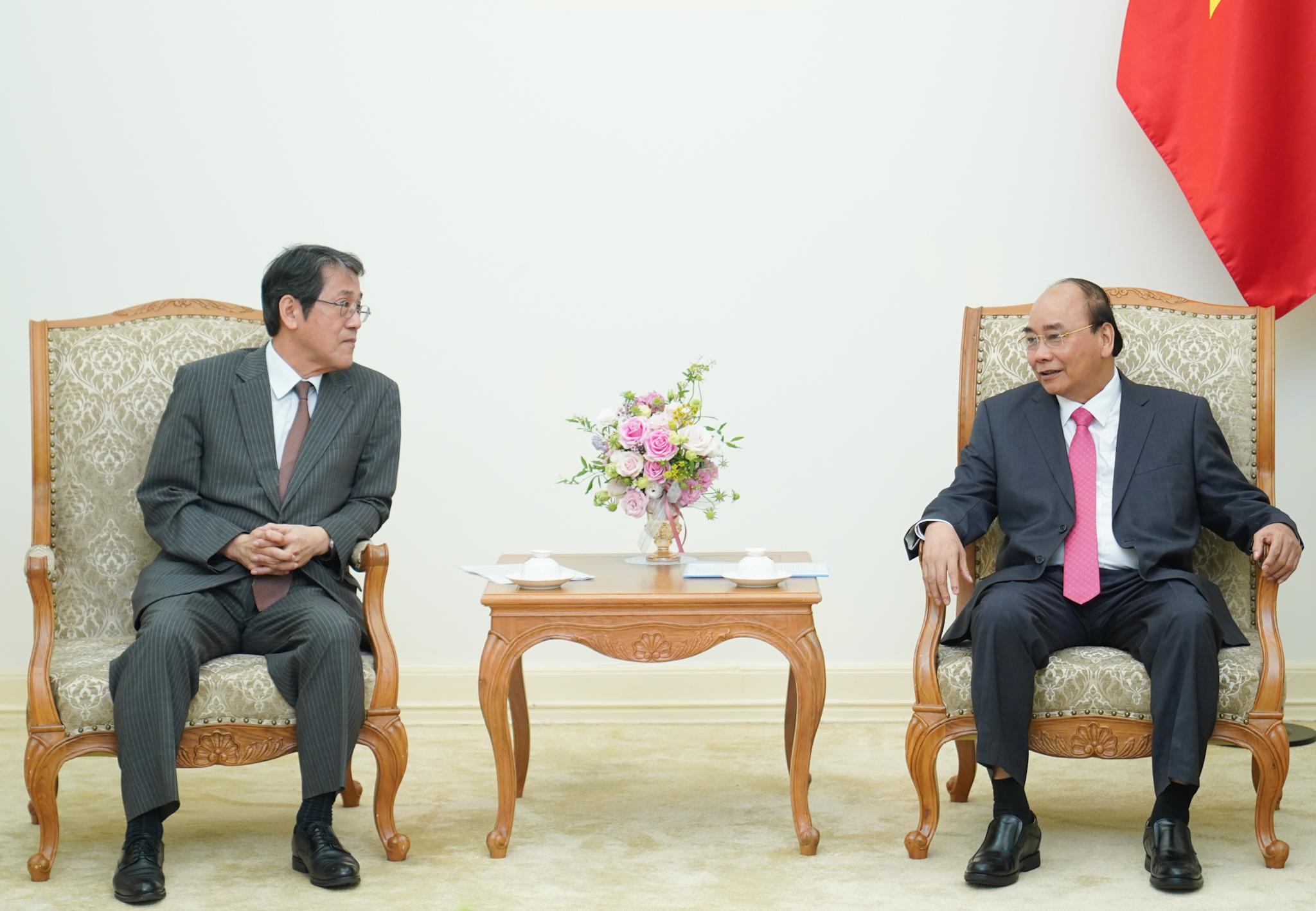 Thủ tướng Nguyễn Xuân Phúc tiếp ông Kunio Umeda, Đại sứ Nhật Bản tại Việt Nam. Ảnh: VGP/Quang Hiếu