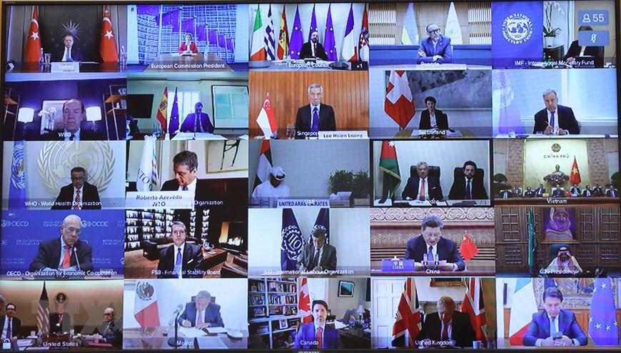 Các đại biểu tham dự hội nghị (chụp qua màn hình). Ảnh: TTXVN