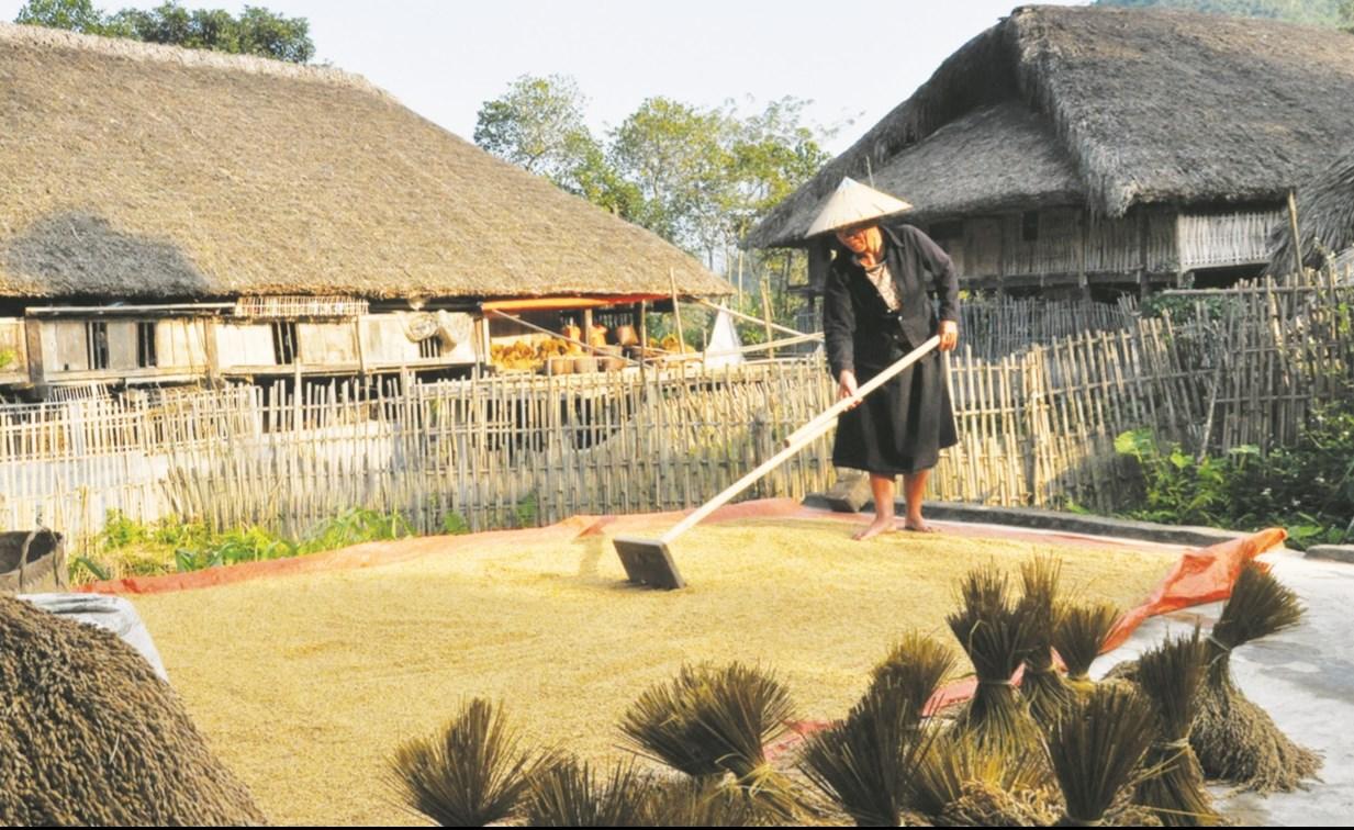 Đồng bào dân tộc Tày vẫn gìn giữ kiến trúc nhà sàn khi đến vùng đất mới