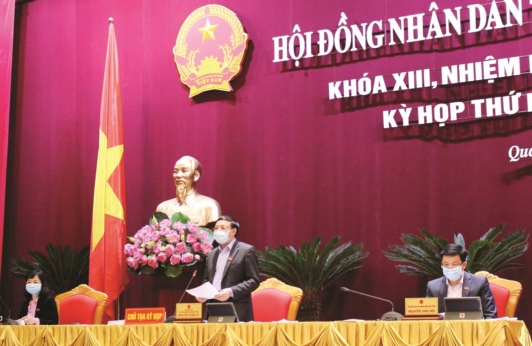 Bí thư Tỉnh ủy, Chủ tịch HĐND tỉnh Quảng Ninh - Nguyễn Xuân Ký phát biểu tại kỳ họp
