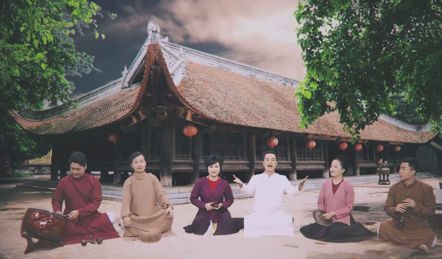 """Một hình ảnh được cắt trong Video """"Tiêu diệt Corona"""" của nhóm xẩm Hà Thành (thực hiện trong tháng 3/2020)"""