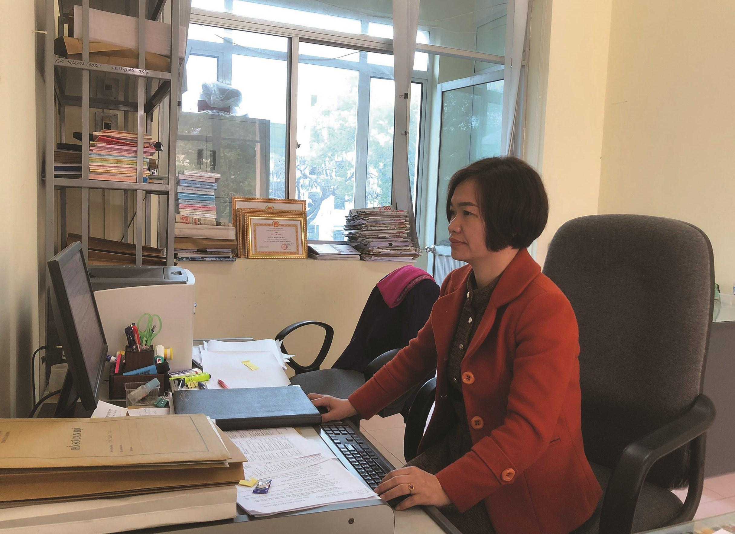 Chị Hoàng Thị Huệ.