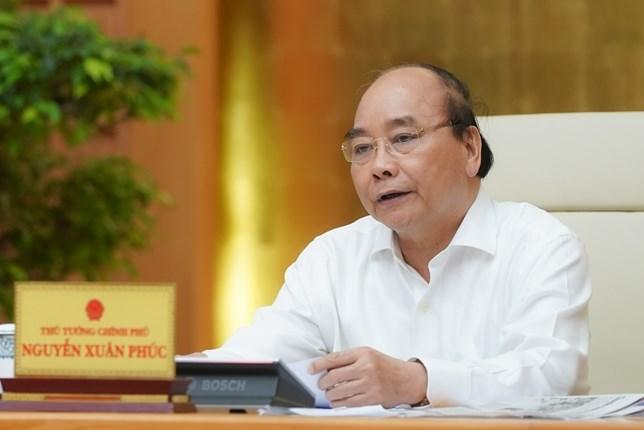 Thủ tướng kết luận cuộc họp Thường trực Chính phủ chiều 22/4. Ảnh: Quang Hiếu