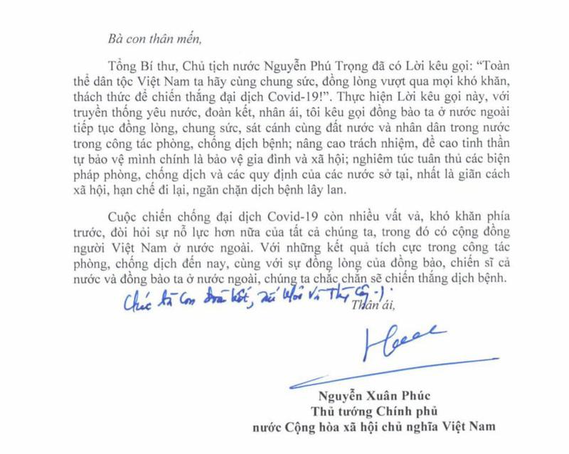 Thư của Thủ tướng gửi cộng đồng người Việt Nam ở nước ngoài 1
