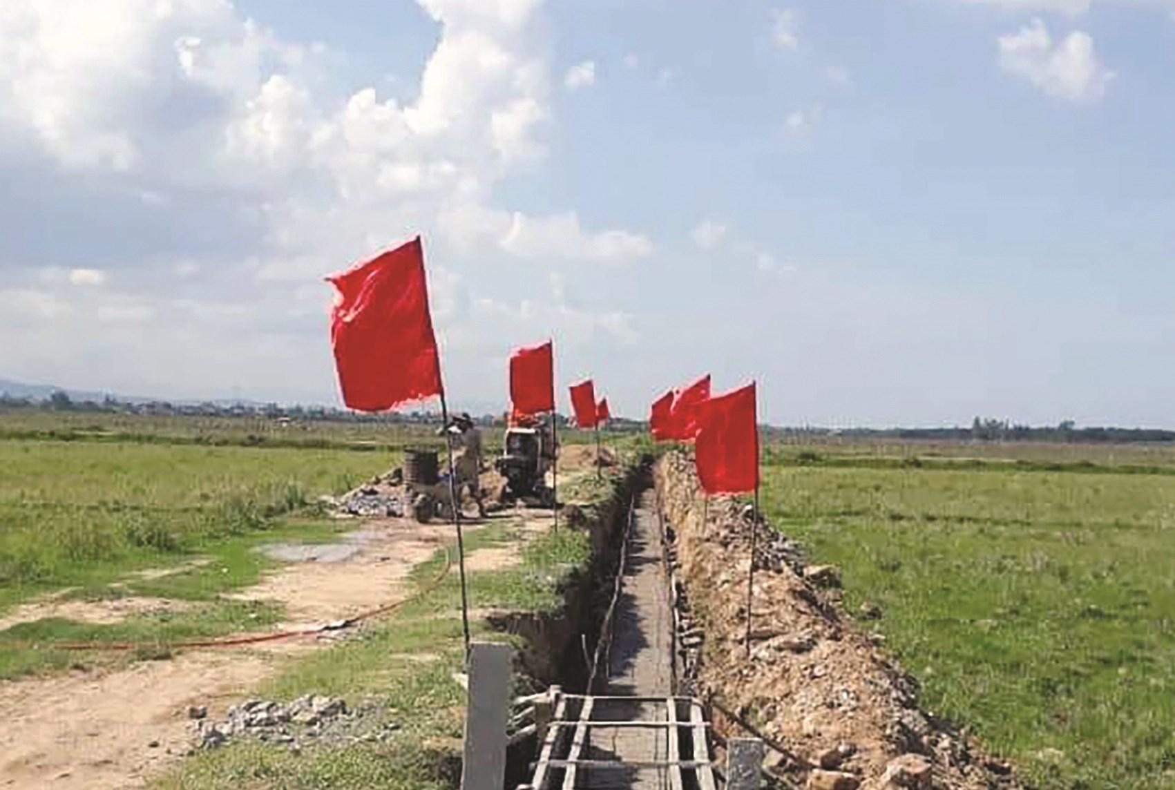 Huyện Bố Trạch kiên cố hóa hệ thống kênh mương nội đồng, chủ động tưới tiêu, phục vụ sản xuất nông nghiệp