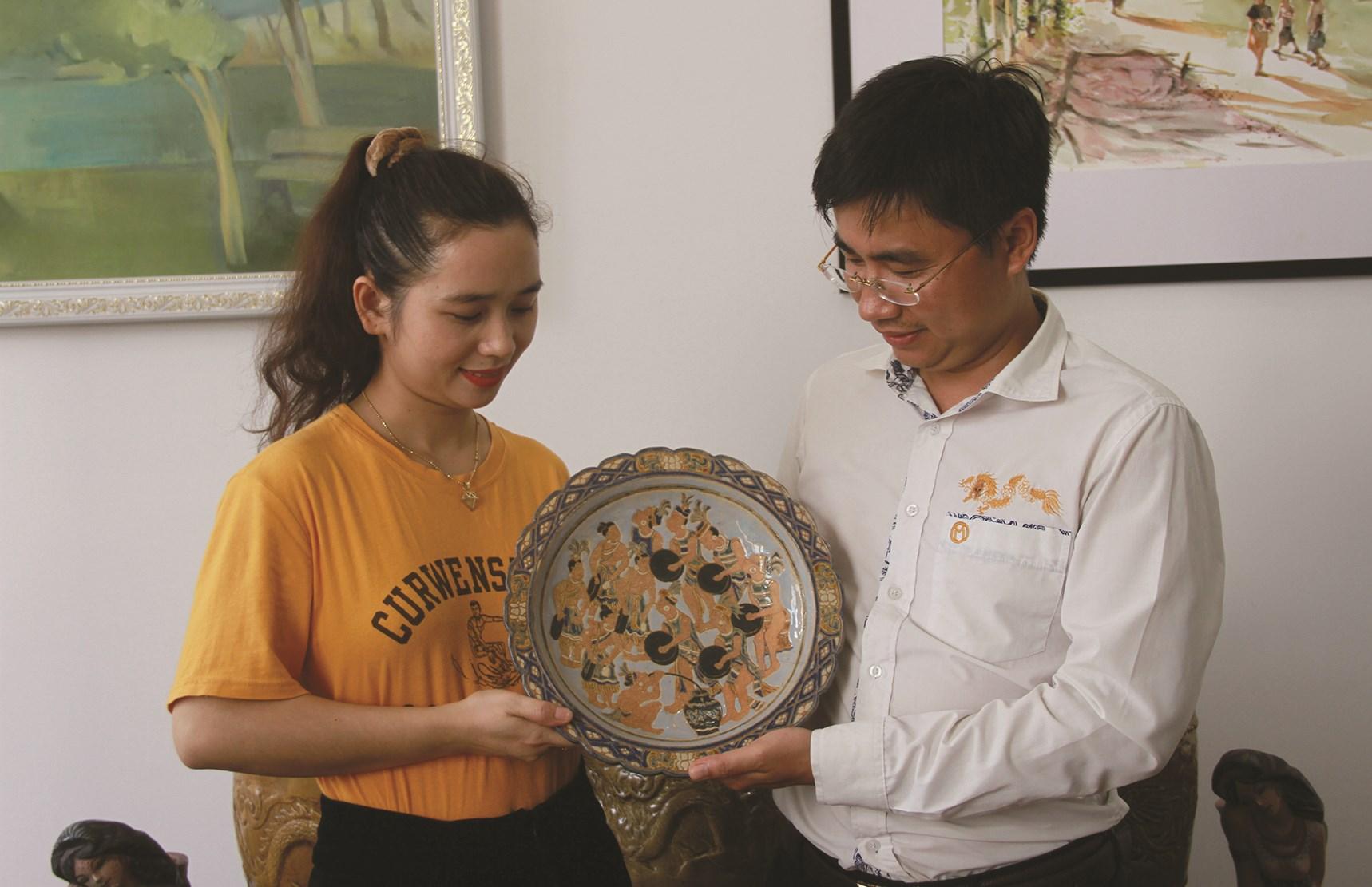Chiếc đĩa gốm mang linh hồn Tây Nguyên