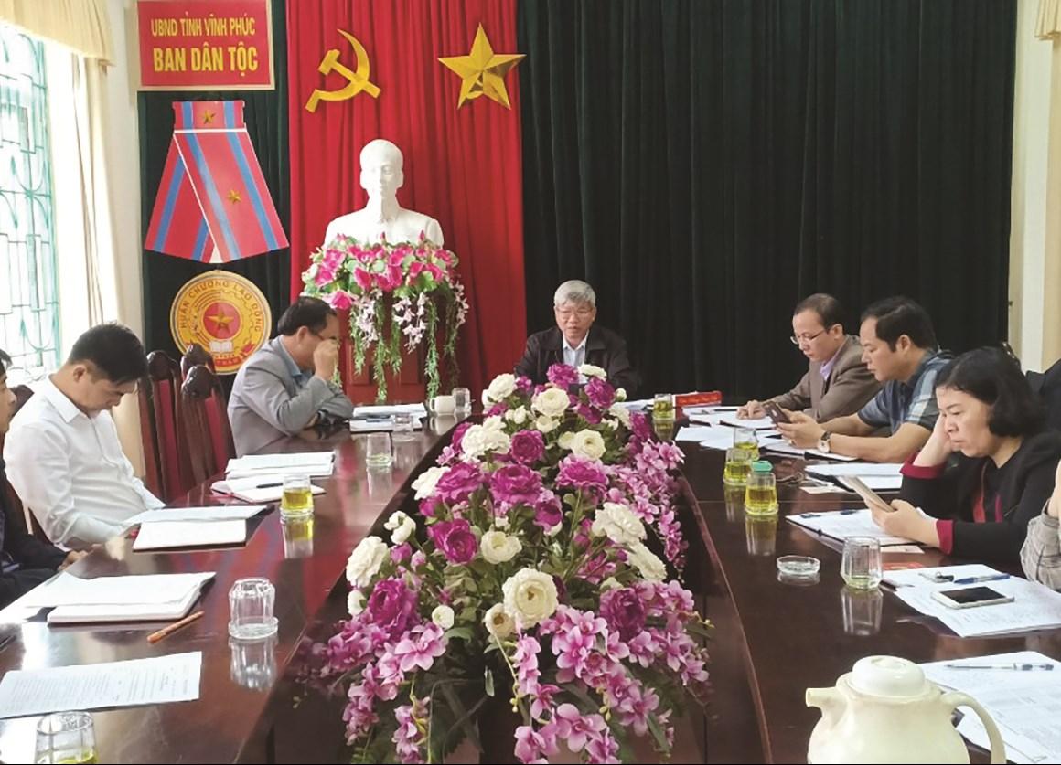 Chi bộ Ban Dân tộc tỉnh Vĩnh Phúc họp bàn về nâng cao chất lượng, hiệu quả công tác kiểm tra, giám sát của Chi bộ