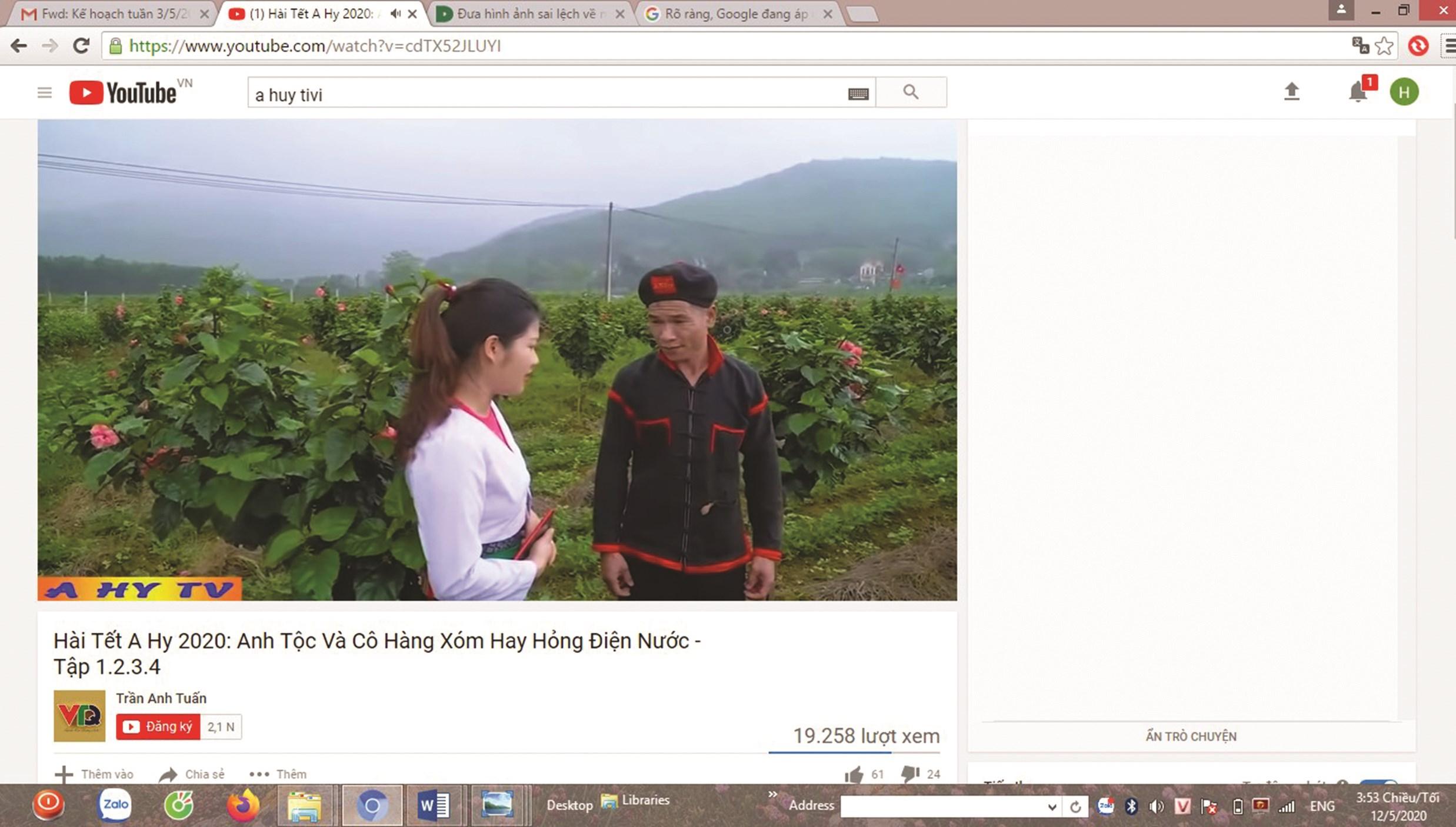 Các Video phản cảm của kênh A Hy TV bị gỡ bỏ đã được đăng tải lại bằng tài khoản khác.