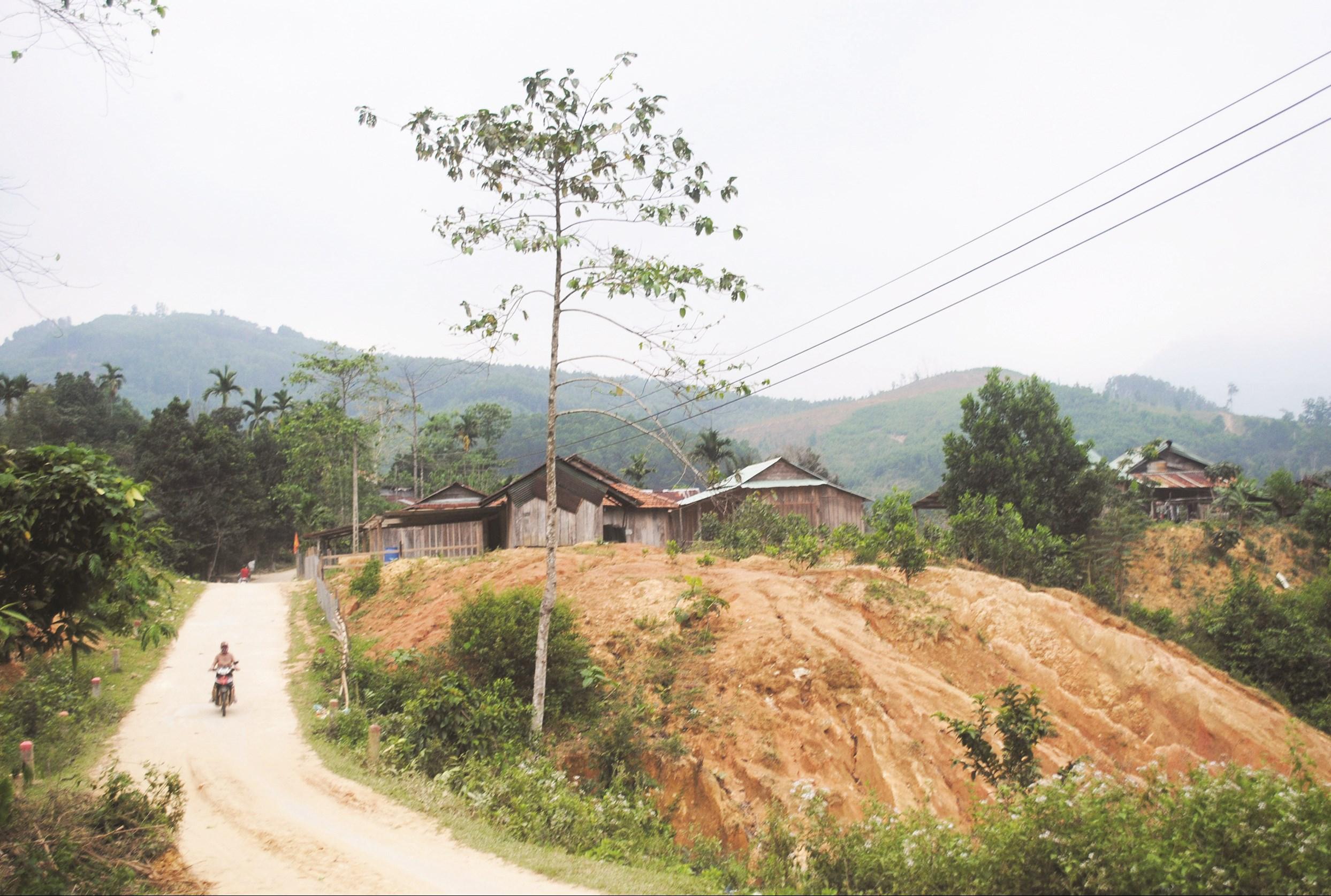 Sự đổi thay ở thôn 6, xã Trà Bui hôm nay một phần nhờ vai trò đóng góp của Người có uy tín.