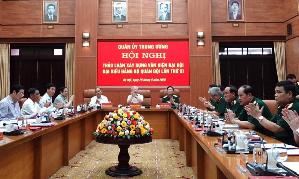 Quân ủy Trung ương thảo luận xây dựng văn kiện Đại hội đại biểu Đảng bộ Quân đội lần thứ XI.