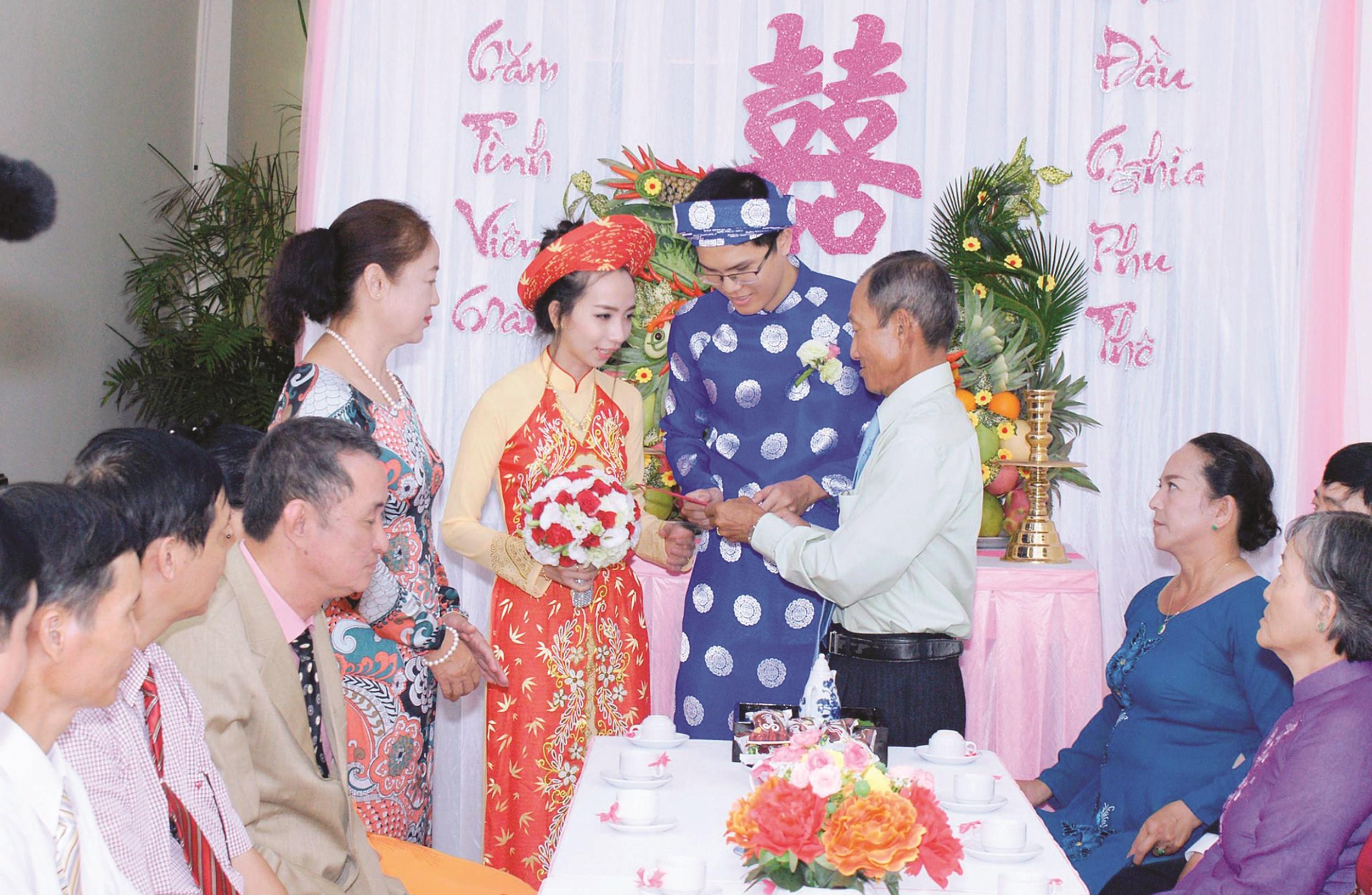 Việc thực hiện nếp sống văn hóa mới trong đám cưới giúp tiết kiệm thời gian, chi phí cho người dân