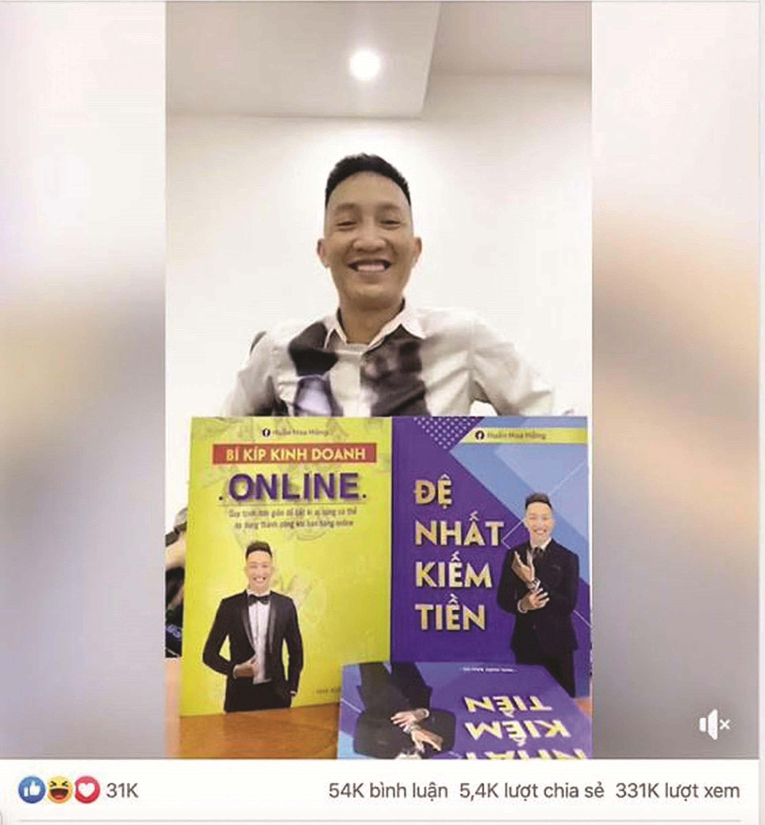 Video Huấn Hoa Hồng giới thiệu bán sách thu hút hơn 500 nghìn lượt xem trên mạng xã hội