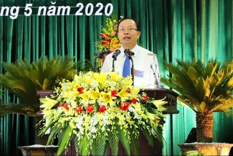 Ông Trịnh Văn Chiến, Bí thư Tỉnh ủy phát biểu chỉ đạo tại Đại hội