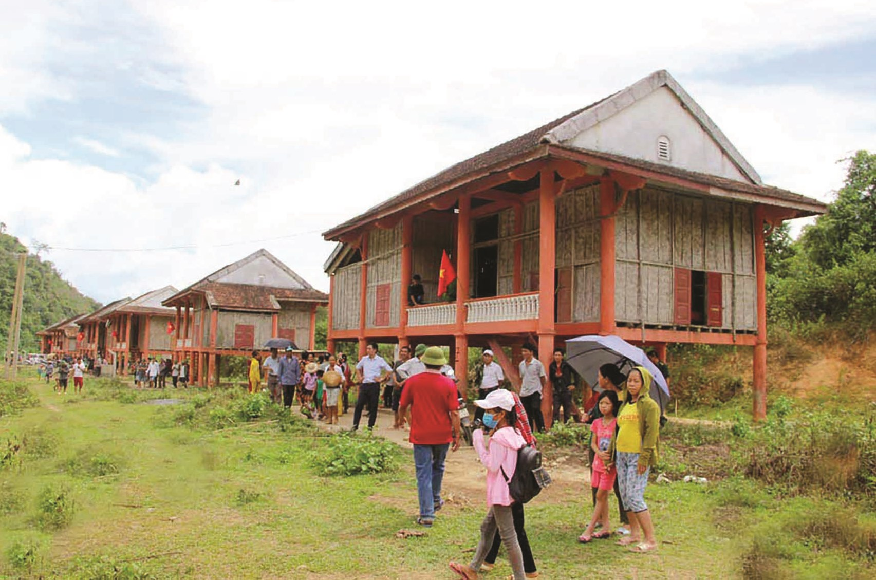 Khu tái định cư của đồng bào Đan Lai ở Kẻ Tắt, xã Thạch Ngàn (Con Cuông, Nghệ An)