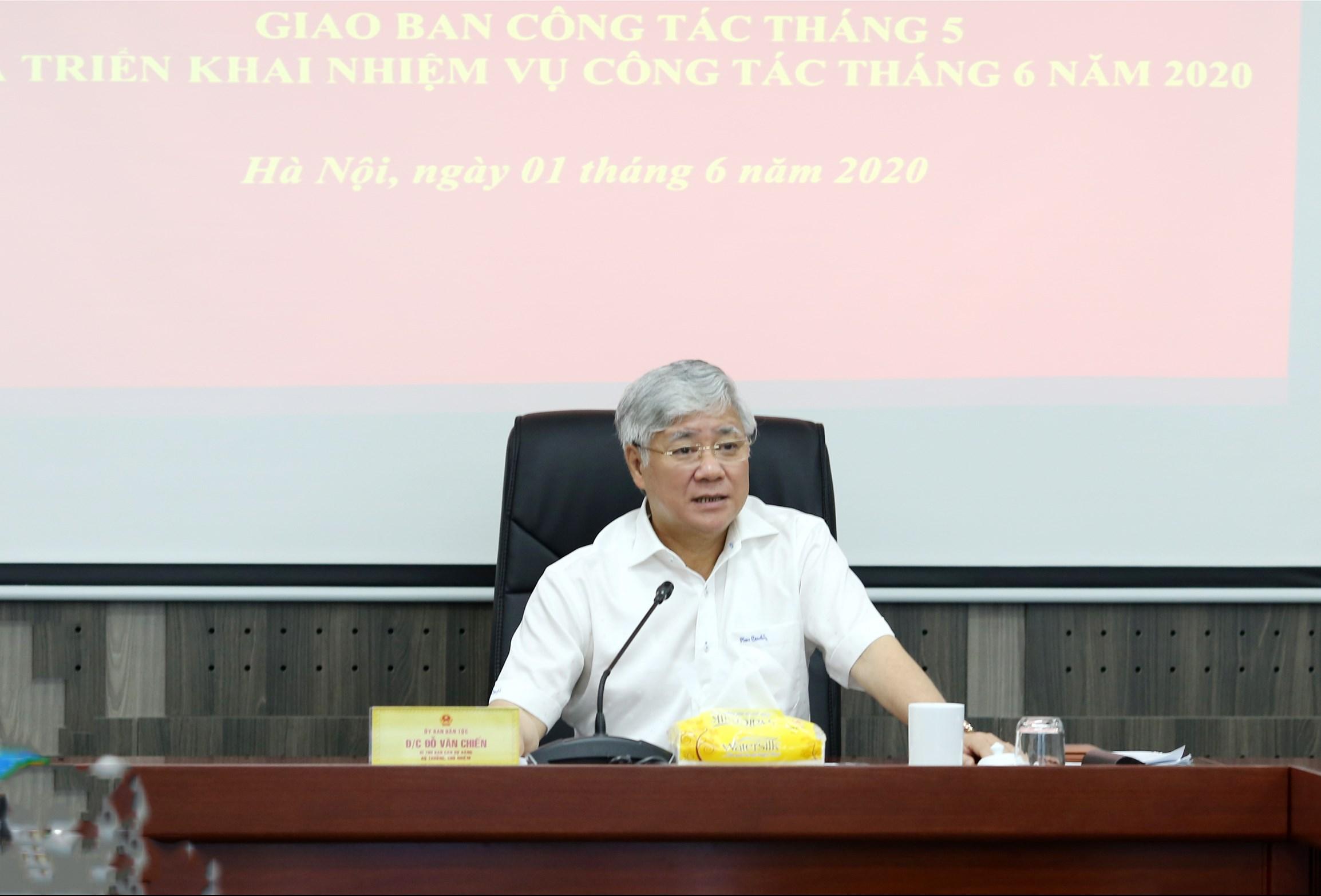 Bộ trưởng, Chủ nhiệm Đỗ Văn Chiến phát biểu chỉ đạo Hội nghị