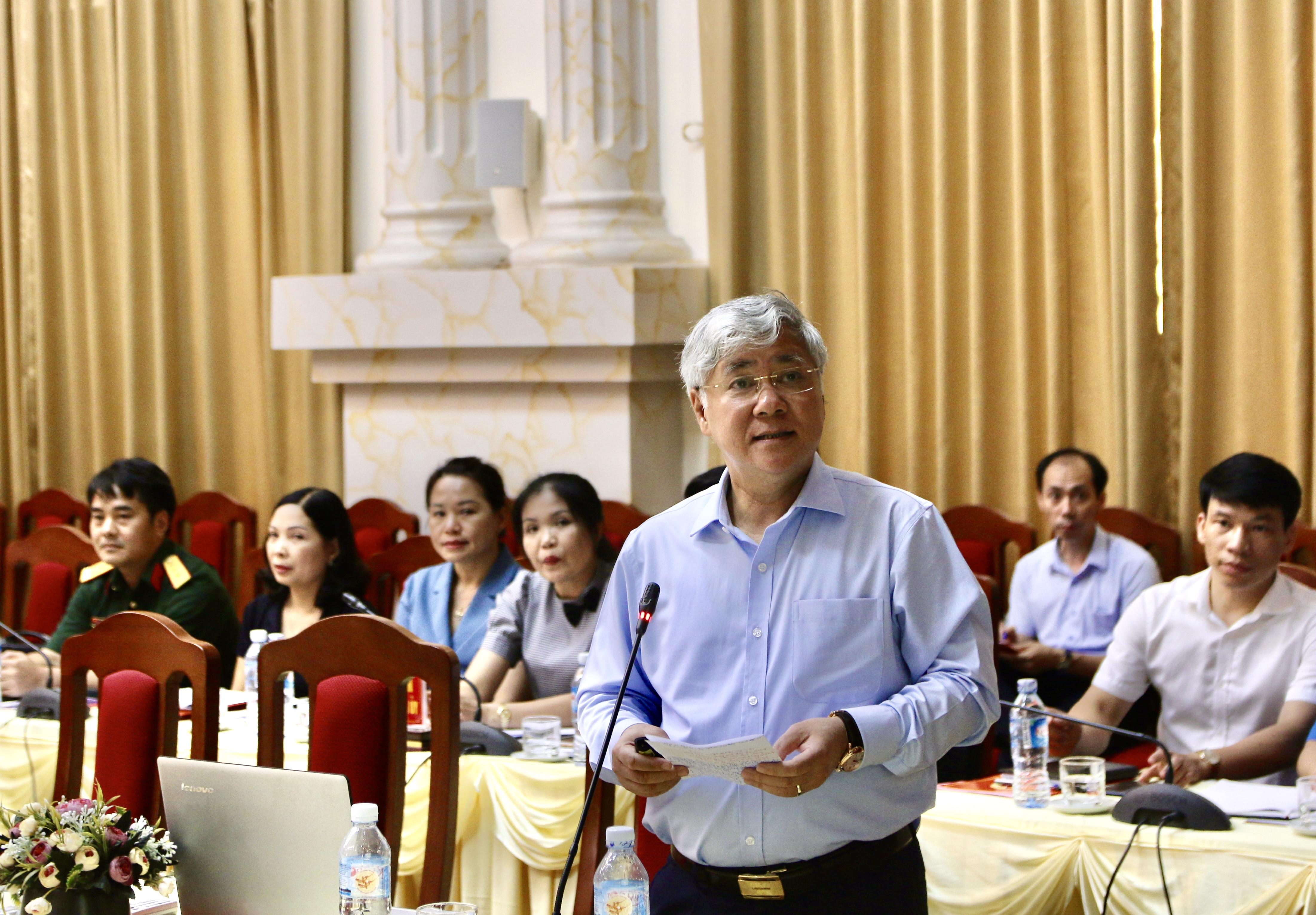 Bộ trưởng, Chủ nhiệm Ủy ban Dân tộc Đỗ Văn Chiến quán triệt Kết luận số 65-KL/TW của Bộ Chính trị