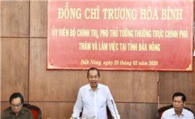 Đoàn công tác của Chính phủ làm việc với tỉnh Đăk Nông