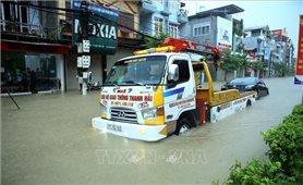 Điện Biên: Mưa lớn, nhiều tuyến đường ngập sâu trong nước