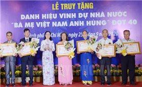 TP HCM: Truy tặng 41 danh hiệu Bà mẹ Việt Nam anh hùng