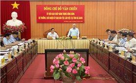 Bộ trưởng, Chủ nhiệm UBDT Đỗ Văn Chiến thăm và làm việc tại tỉnh Hà Giang